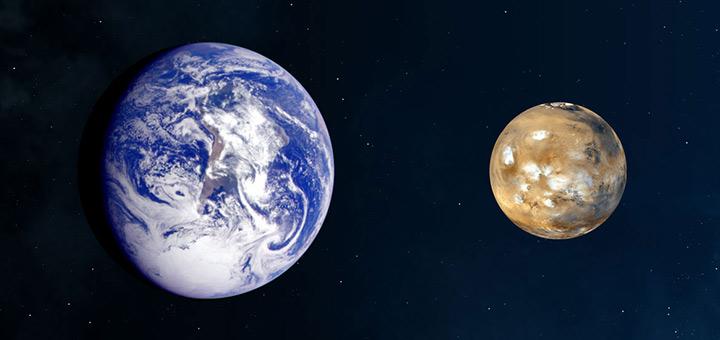 مقایسه زمین و مریخ