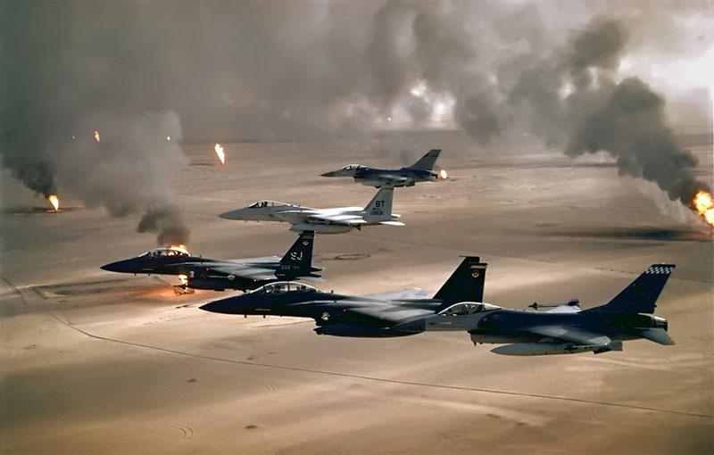 هواپیماهای ائتلاف در طوفان صحرا